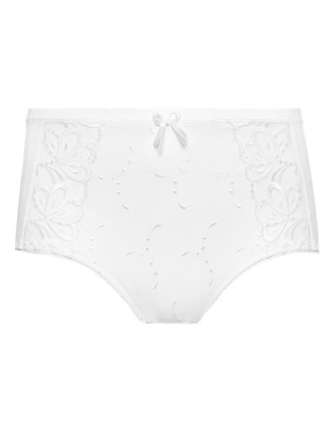 Flatter-Me™ High Rise Orchid Embroidered Shorts