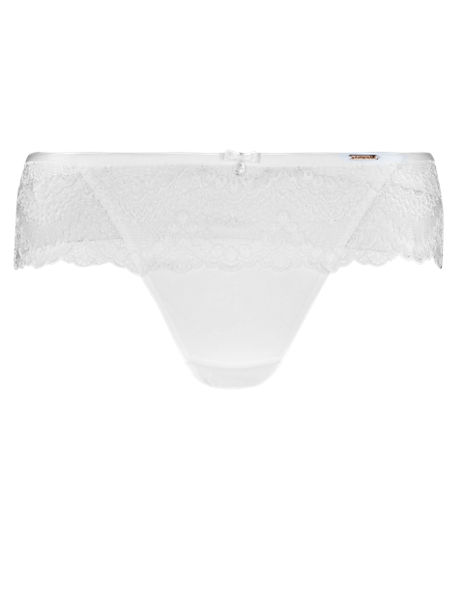 Scallop Lace Low Rise Thong