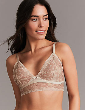 Lace Embroidered Non-Padded Bralet