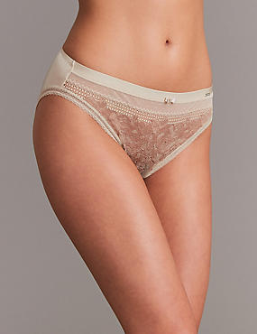 Lace Embroidered High Leg Knickers