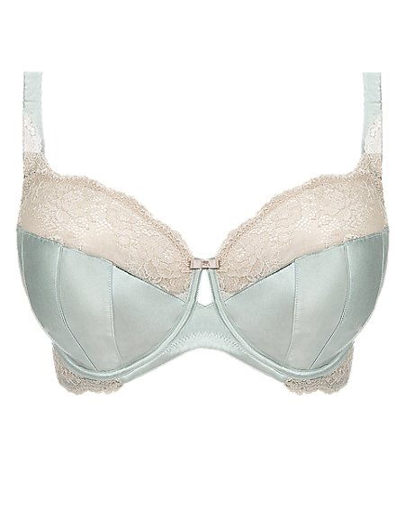 Non-Padded Balcony DD-G Bras with Silk