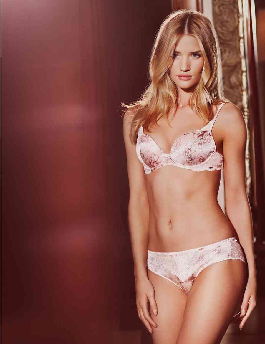d012776a66 Rosie for Autograph Rose Printed Silk Padded Plunge DD-G bra ...