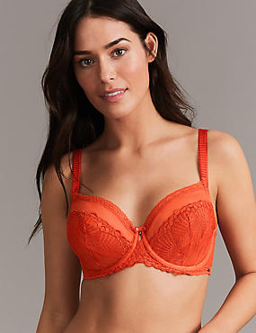 Embroidered Non-Padded Balcony Bra A-DD