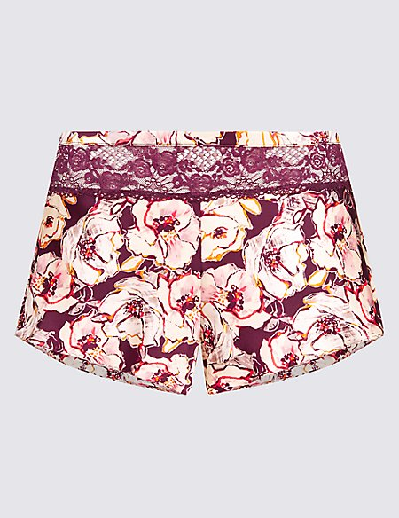 Silk & Lace Printed French Knickers