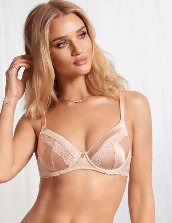 108e467f76 Silk   Lace Padded Full Cup Bra A-E