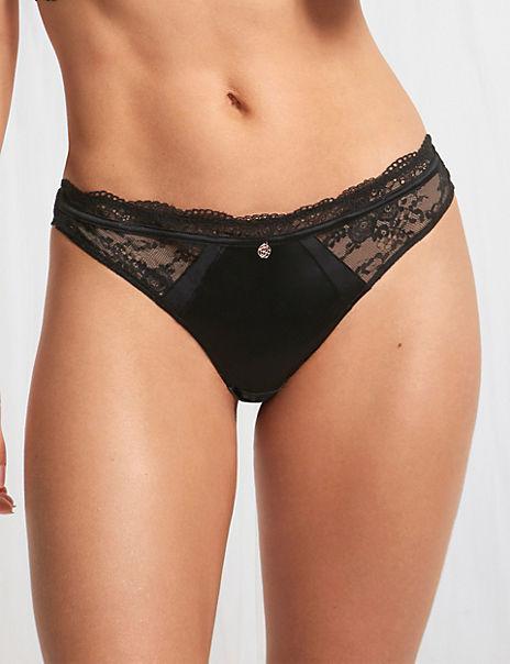 Silk & Lace Thong