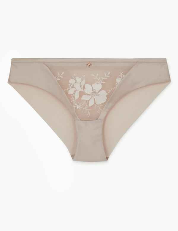 c60bfb409 Embroidered Brazilian Knickers with Satin