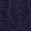 Ungepolsteter Balconette-BH mit gepunktetem Mesheinsatz und Spitze (B–DD), MARINEBLAU, swatch