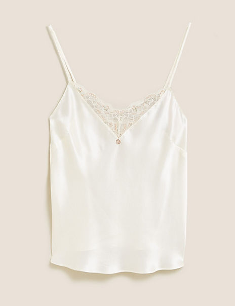 Silk & Lace Camisole with Lurex