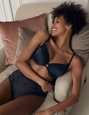 Snake Lace Padded Full Cup bra A-E