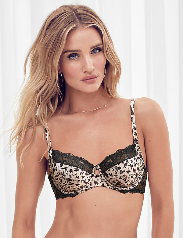 NEW ROSIE FOR MARKS /& SPENCER SILK /& FRENCH LACE UNDERWIRED BALCONY BRA 30 D DD