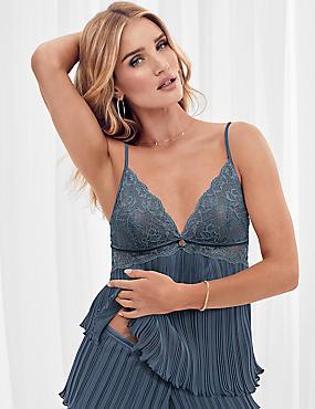 Pleat & Lace Camisole