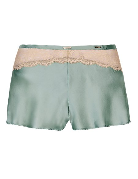 Silk French Knickers with French Designed Rose Lace
