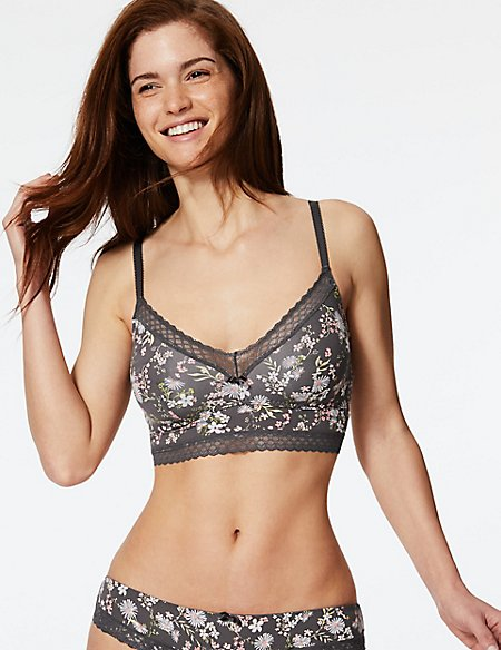 2 Pack Lace Non-Padded Bralet