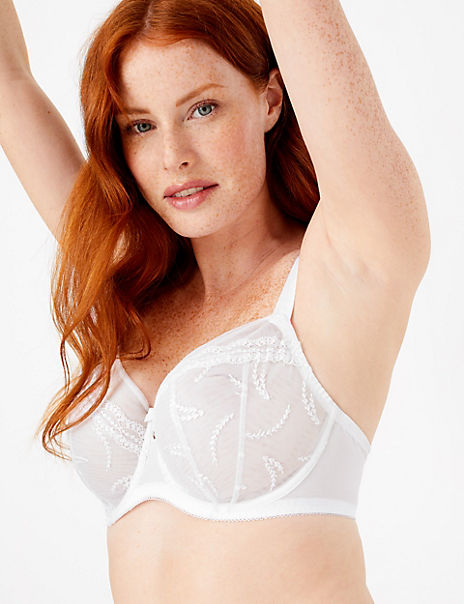 2 Pack Embroidered Balcony DD+ Bras