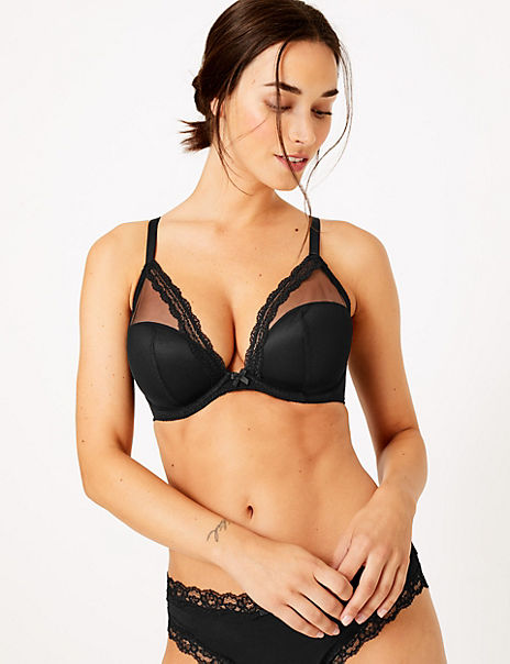 Harvest Embroidery Plunge Bra - 2 Pack