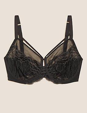 Scallop Lace Underwired Minimiser Bra C-G