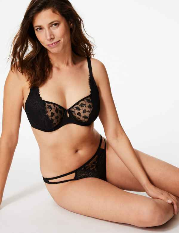 ee14b6d8397 Lace Underwired Balcony Bra A-G