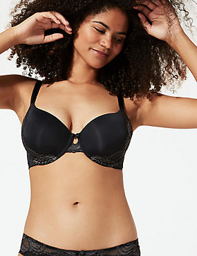 Perfect Fit Lace Padded Full Cup Bra A-E