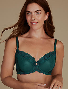 Lace Non-Padded Full Cup Bra A-D