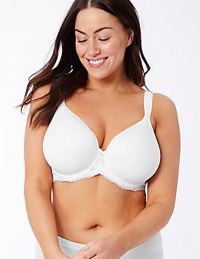Lace Padded Full Cup Bra DD-GG