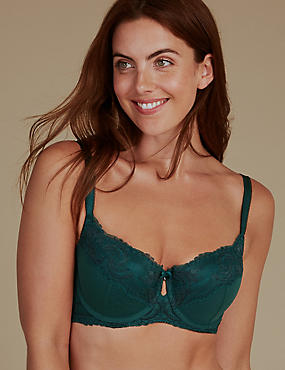 Sophia Lace Set with Padded Balcony A-E