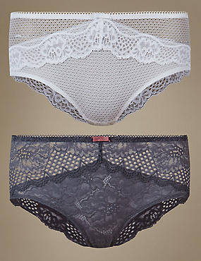 2 Pack Lace Low Rise Shorts