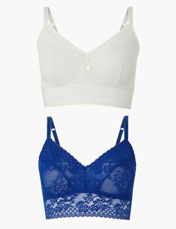 2be763d3d89 Bralettes   Mesh & Floral Lace Bralet Bras   M&S