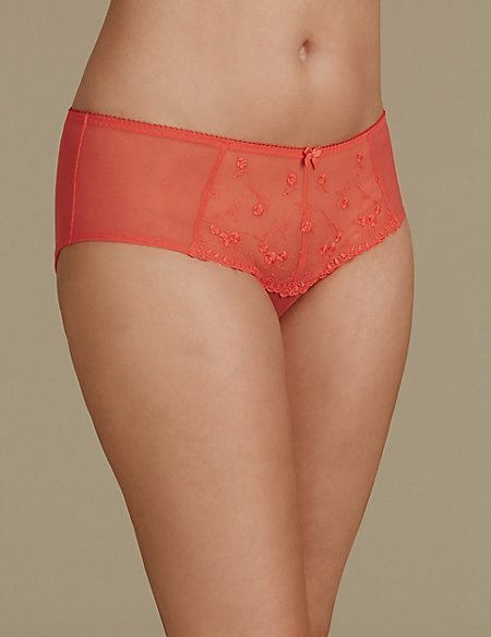 2 Pack Embroidered Shorts