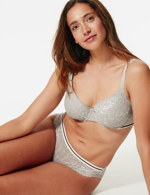 Louisa Lace Padded Full Cup Bra A-E