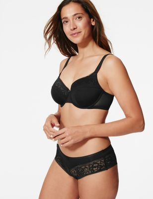 Lace Padded Full Cup Bra A-E