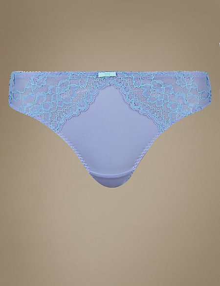 Floral Lace Thong