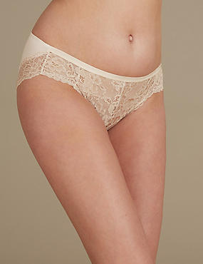 Louisa Lace Sparkle High Leg Knickers