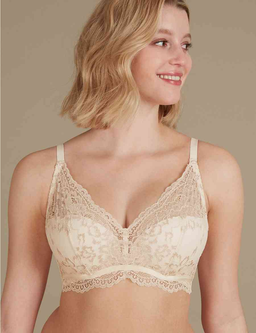 28c458f0865be Louisa Lace Sparkle Padded Plunge Bra A-DD