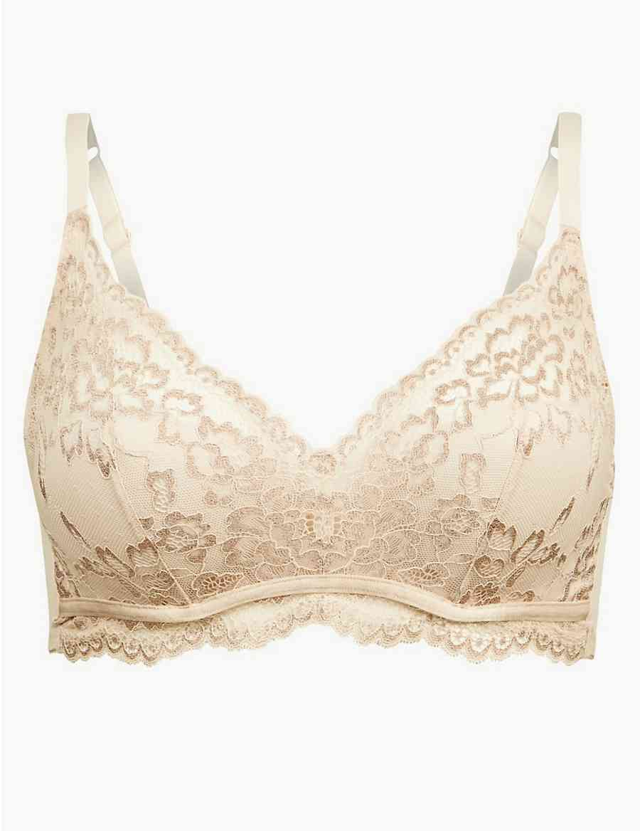 2fbe870f71046 Louisa Lace Sparkle Padded Plunge Bra A-DD