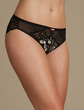 Floral Lace High Leg Knickers