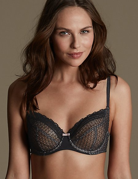 2 Pack Textured Full Cup Non-Padded Bras