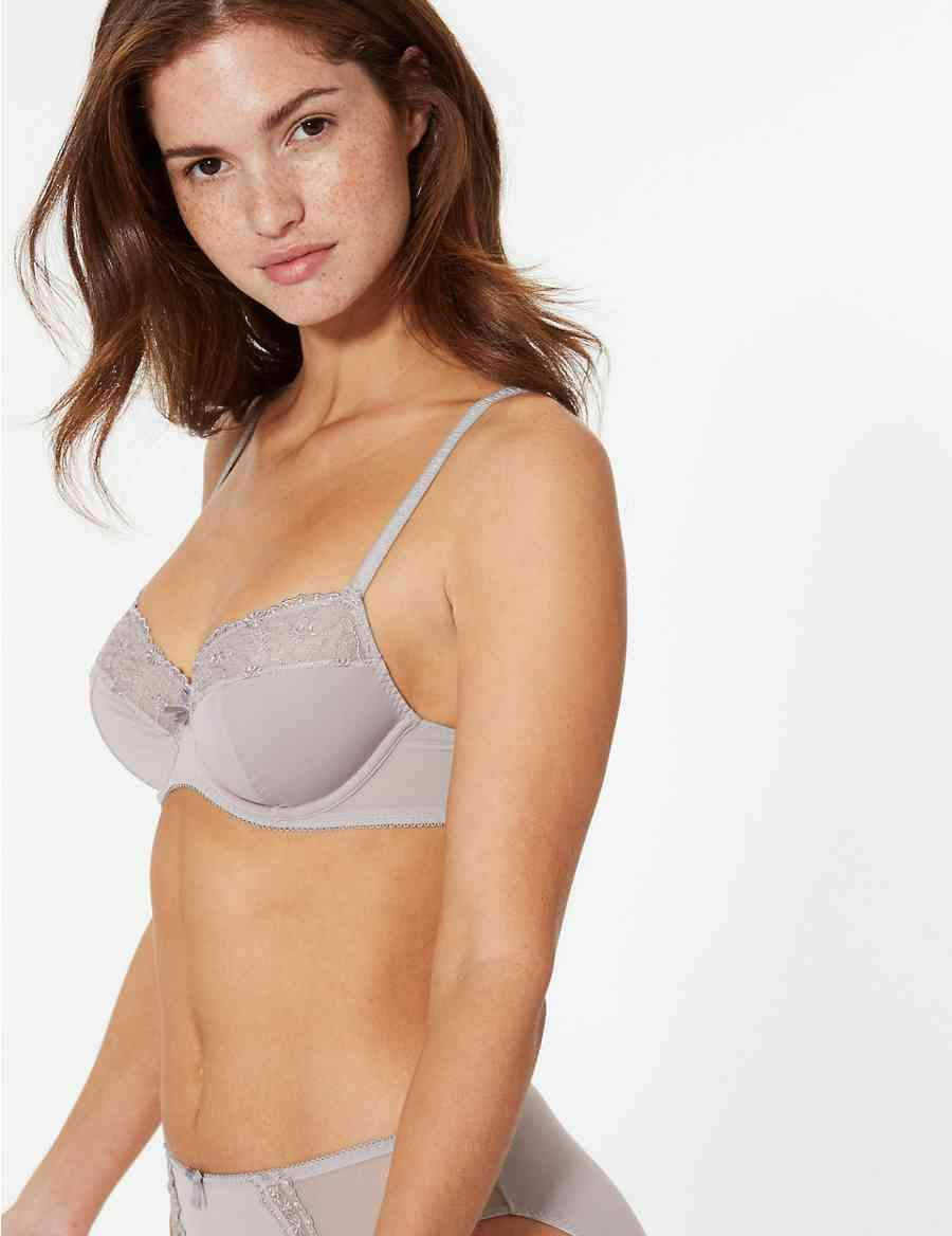 f5579ab9c5 2 Pack Non-Padded Balcony Bras A-E