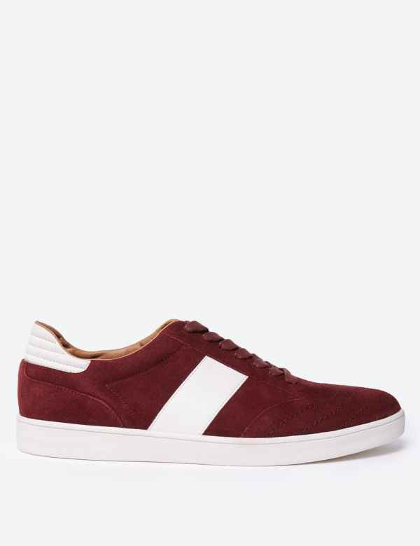 a2d48b96e0731 Suede Lace-up Trainers