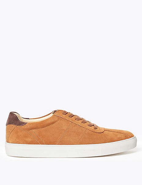 Suede Cupped Sole Trainers