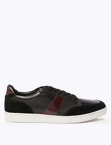 Leather Side Stripe Trainers