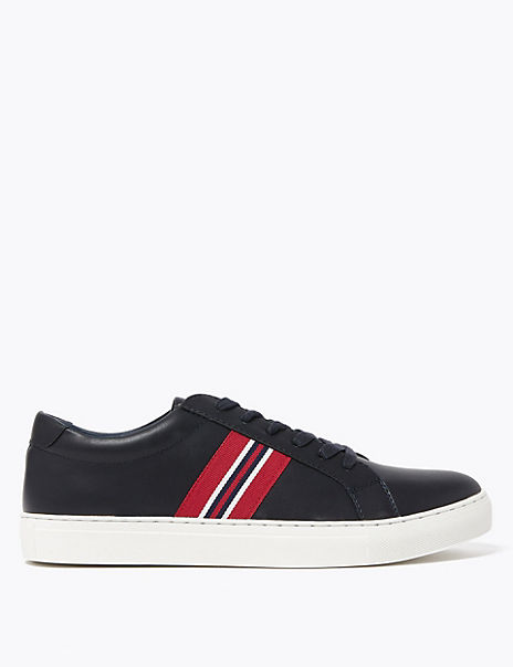 Side Stripe Lace-up Trainers
