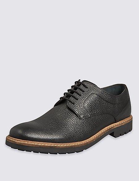 Leather Scotch Grain Lace-up Derby Shoes