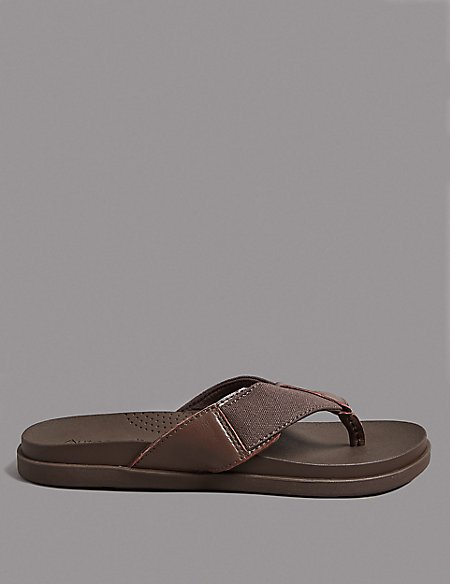 Leather Slip-on Flip-Flops