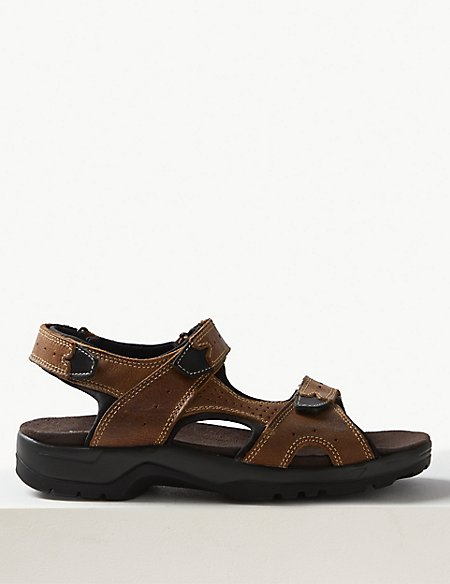 Leather Riptape Sandals