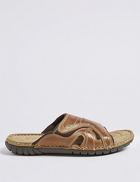 Leather Slip-on Sandals