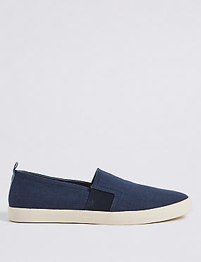 Canvas Slip-on Pump Shoes