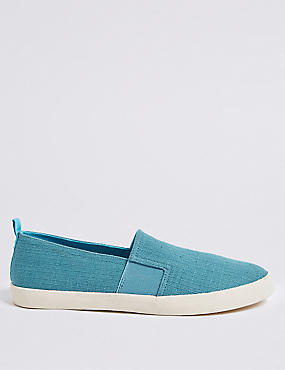 Canvas Slip-on Pump Shoes