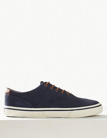 Suede Lace-up Pump Shoes