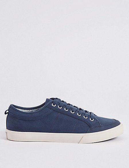 Marks and Spencer Canvas Lace-up Pump Shoes navy Cheap Sale Cheap Sale 2018 New Discount Visit Cheap Price Top Quality Sale Excellent FcPSnM4v